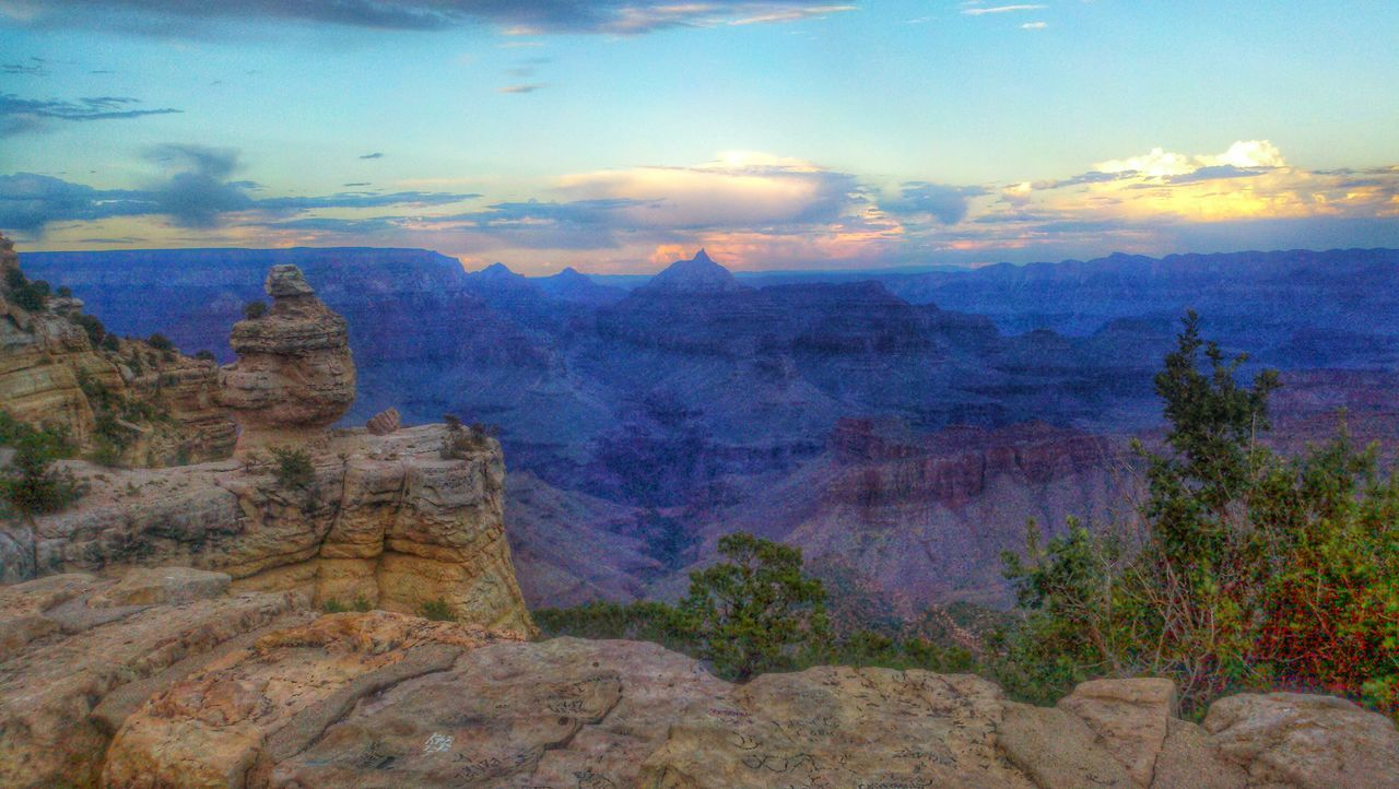 Sunset Grand Canyon Storm Clouds Gathering