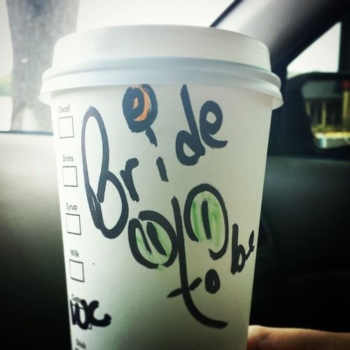 Bridetobe Starbucks Whitechocolatemoca Caffine weddingdreszshopping