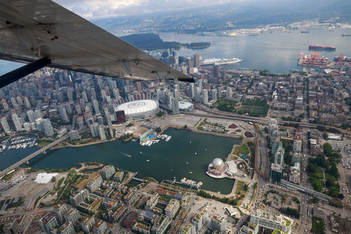 Up in the air! Taking an aerial tour of Vancouver and the surrounding area. Aerial Shot BC Place Cityscape Downtown Science World  Aerial Photography Aerial View Architecture Bay Building Building Exterior Built Structure City Cityscape Day Daylight Downtown District High Angle View Nature Ocean Outdoors Residential District Transportation Water