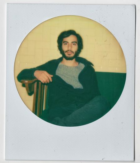 Mm sì. Portrait Beard Young Adult One Man Only One Person Adult People ThatsMe Selfportrait Selfies Tadaa Community Take A Seat Take A Look Glimpsing Day Nostalgic  Happıness Polaroid 600 Polaroid Camera Rounded Vintage Photography Eye Contact