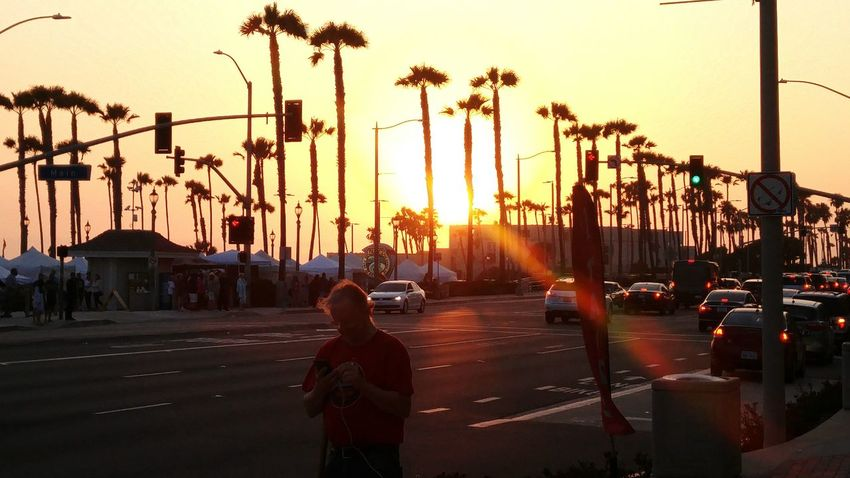Jim hackin huntington beach at sunset. Surfcityusa Ingress Ohtheplacesyoullgo Seen On My Walk