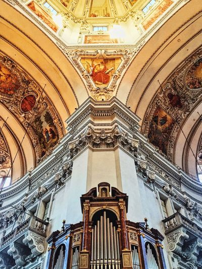 Catedral Saltzburg Colorful Architecture Indoors  Built Structure Travel Architecture And Art Autumn Colour