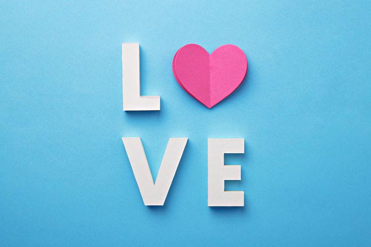 Love in alphabet blocks