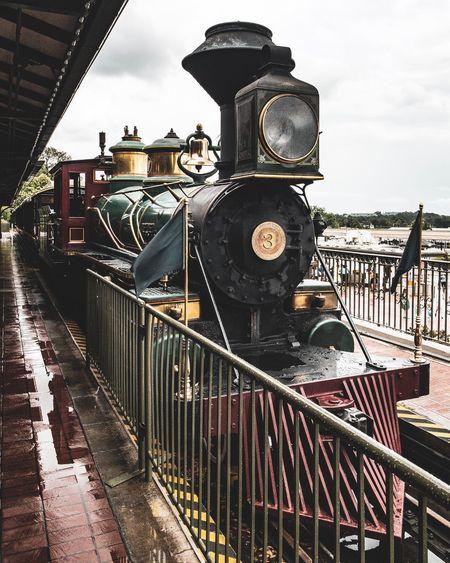 Next stop Ricardo Barbosa Vacation Travel Trip Train Sky Nature Cloud - Sky Railing Architecture No People Metal Transportation Boundary Train Rail Transportation Outdoors Fence