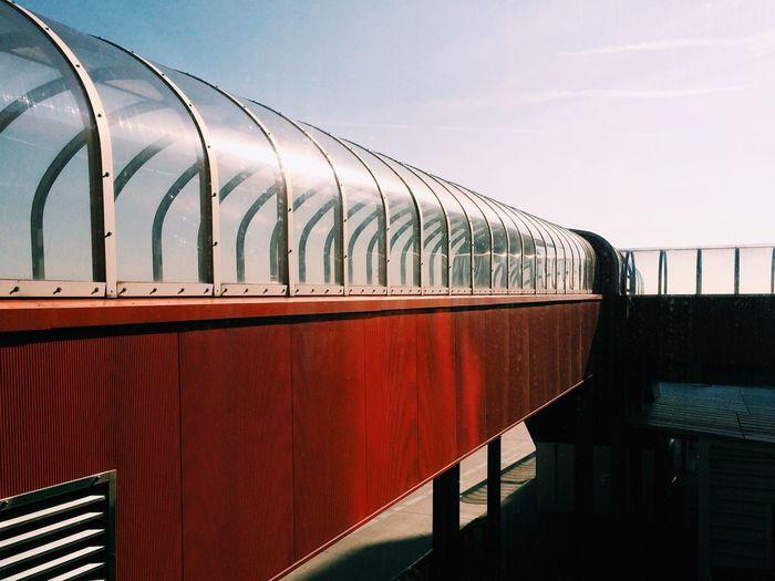 Long Covered Footbridge Against The Sky