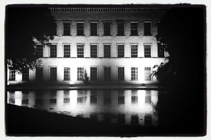 Alone in the Dark Black & White Reflection Night