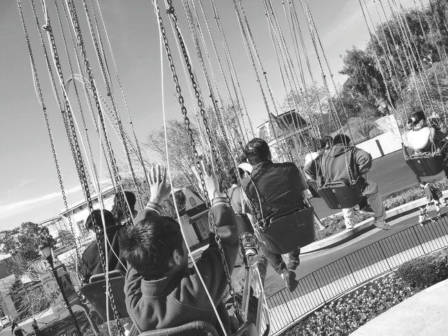 Theme Park Fun Ride Merry Goes Round Spin Happy Fun