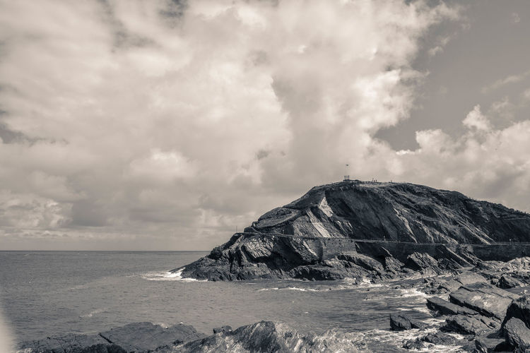 Black & White Coastline Beauty In Nature Black And White Black And White Friday Cloud - Sky Day Dramatic Landscape Horizon Over Water Landscape Monchrome Nature No People Outdoors Rock - Object Rocks Rocks And Water Scenics Sea Sky Tranquil Scene Tranquility Water