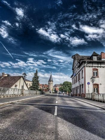 Bad_homburg Sky On The Road Asphalt