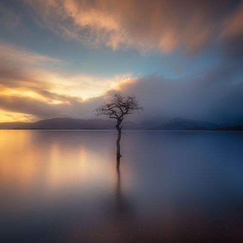 Loch Lomond Scotland Reflection Landscape Outdoors Cloud - Sky Horizon Over Water Water Sunset Scenics Nikonphotography Sunsetporn Tranquil Scene Scotland 💕 Travel Destinations Landscape_photography Long Exposure
