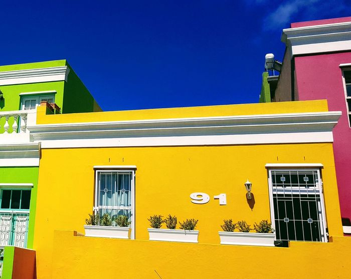 Yellow Building Exterior Outdoors Window Multi Colored Day No People Architecture Sky Paint The Town Yellow