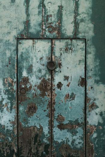 Exterior of abandoned old door