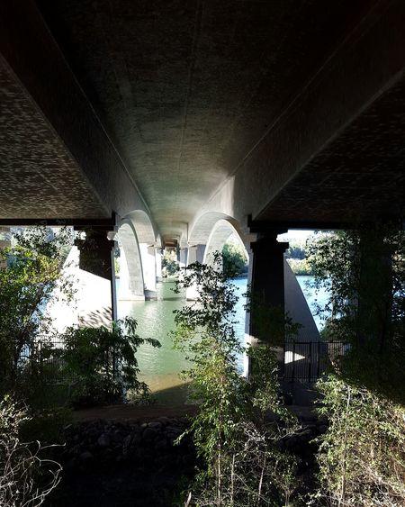 under the FolsomBridge Americanriver Folsom California Architecture Beautiful