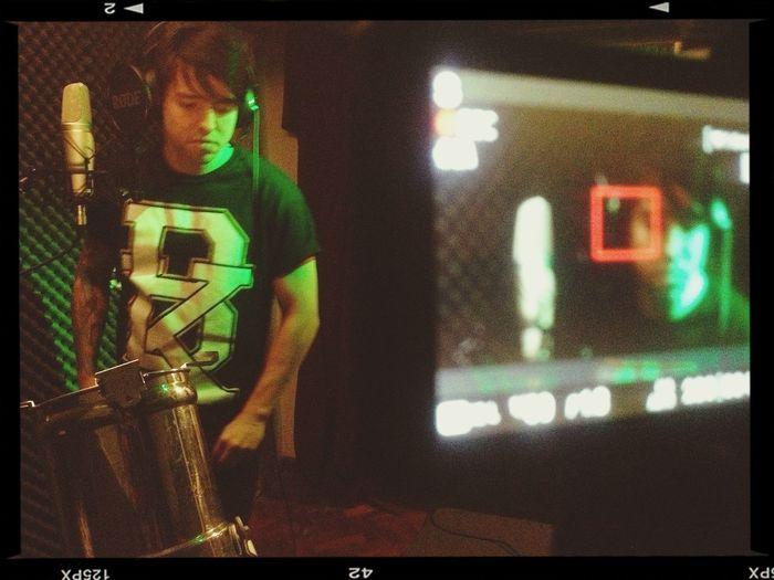 CONVOI - grabando videoclip Singer  Recording In Studio Convoi
