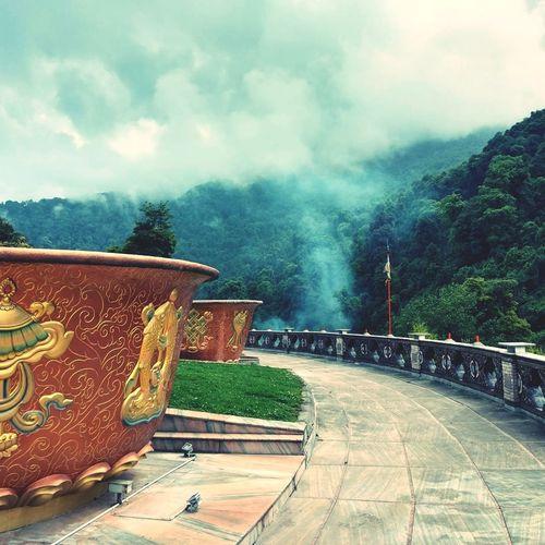 Fog Mountain Outdoors No People Landscape Clouds And Sky Monastery Peace ✌ Ravangla