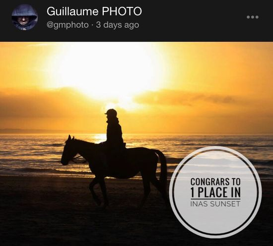 Congrats Guillaume Inas Sunset