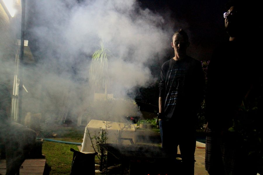 Adults Only South African Braai Night Time People Outdoors