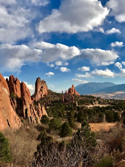 Rock - Object Rock Formation Nature Beauty In Nature Cloud - Sky Sky Geology Travel Destinations Scenics Physical Geography Travel Tourism Tranquility Landscape No People Rock Hoodoo Outdoors Arid Climate Day Mountain Gardenofthegods