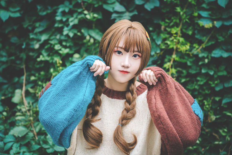 Lovely girl Attention Autumn Beautiful Braids Calm Fashion Sister Woman Young Youth Beauty Braided Hair Brown Cute Girl Face Female Gaze Gentle Girl Look Lovely People Photo Smile Stare At