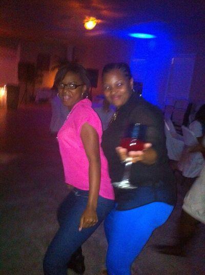 Dancing on my mama.! We had so much fun .!!