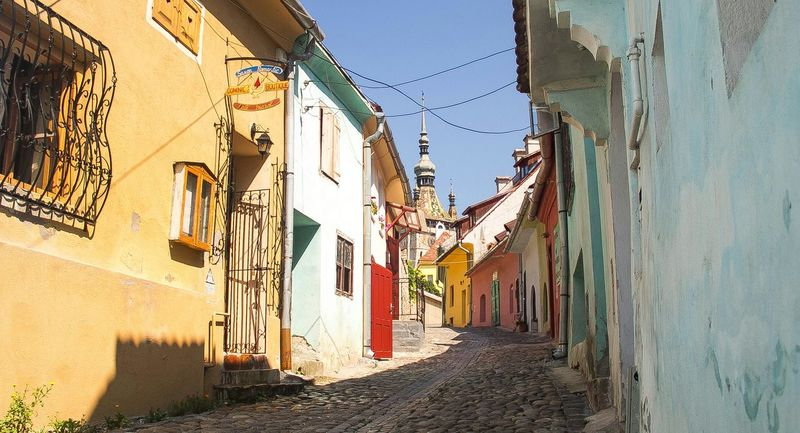 Taking Photos Enjoying Life Check This Out Buildings Colors Street Full Of Life