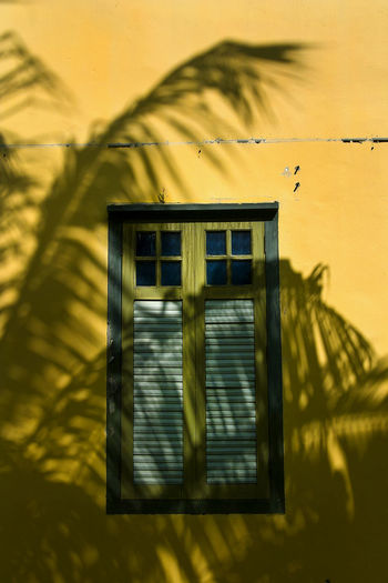 Architecture Building Exterior Built Structure Close-up Day Nature No People Outdoors Shadow Sky Sunlight Window Yellow