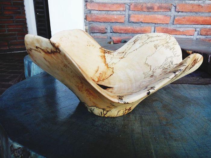 bowl in tamarine wood Decoration Tamarine Wood - Material Natural Handycraft INDONESIA Central Java Semarang EyeEm Selects Close-up