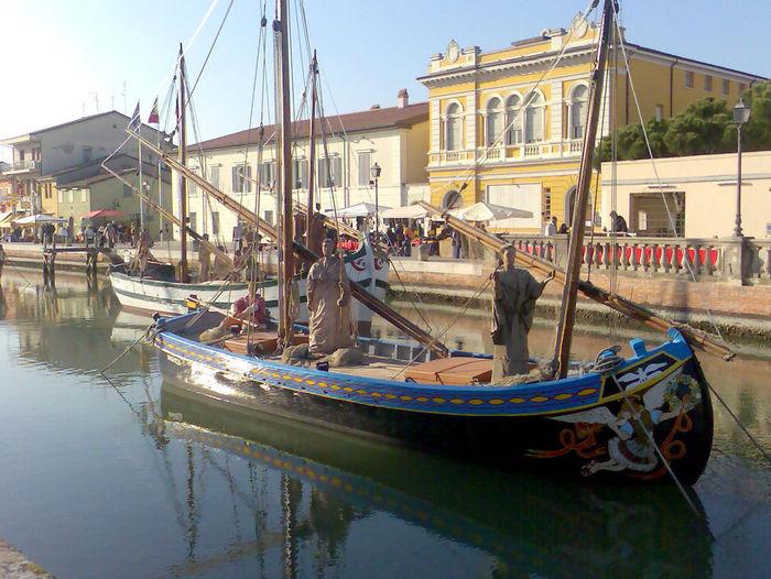 Canal Cesenatico Cesenatico Porto Canale City Fotografia Gondola - Traditional Boat Nautical Vessel Photo Photography Presepe Presepe Della Marineria Cesenatico Travel Destinations Water Adapted To The City