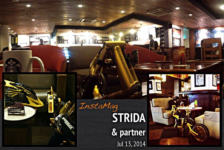 Strida in Cafe Batavia and Starbucks ❤ Cideng