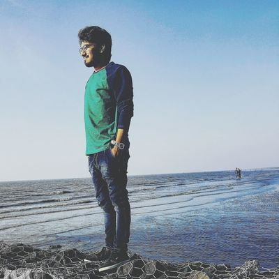 Sky Full Length Casual Clothing Water One Person People Blue Silhouette Multi Colored Adults Only One Man Only Like4follow Like4followers Like4likes Follow4follow Like4likers Like4followback Like4more Like4likesalways Only Men Standing Outdoors Clear Sky Human Body Part Adult First Eyeem Photo