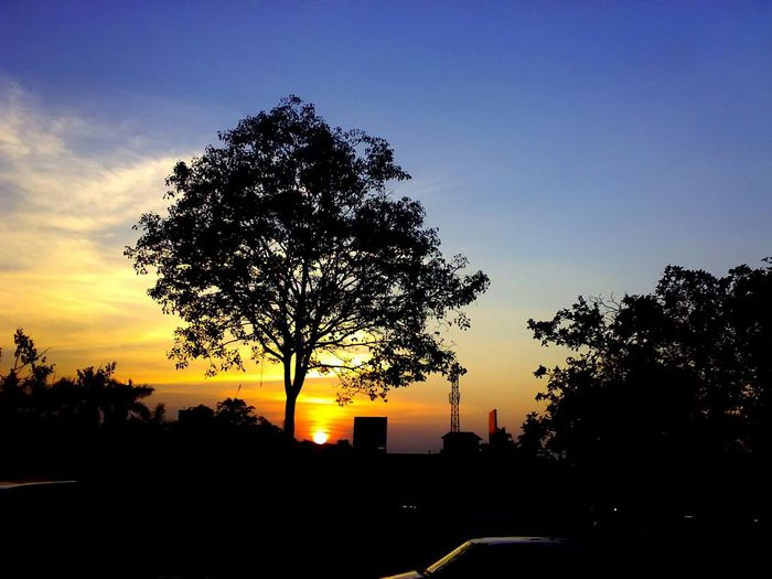 Sunset view from Thrissur round. Sunset Outdoors Nature Kerala India Landscape Scenic Colorful Sky Travel Colours