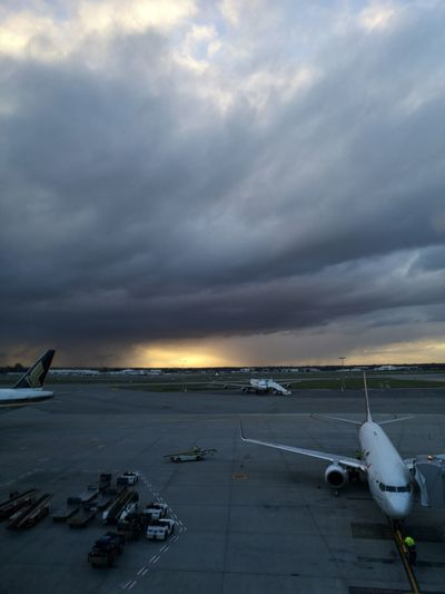 Late afternoon. Airport Australia Australian Landscape Huaweip20pro Dark Western Australia EyeEm Selects WesternAustralia Perth Australia Clouds And Sky Stormy Sky City Sunset Business Finance And Industry Sky
