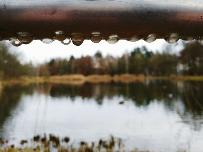 EyeEm Nature Lover Nature Melancholic Landscapes The Rainy Days Specials Series Raindrops Waterdrops Water Reflections Depth Of Field