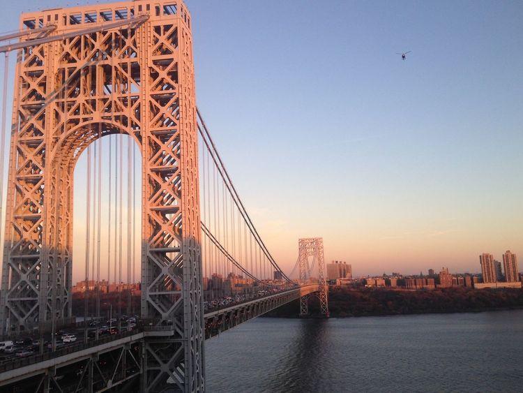 George Washington Bridge New York Sunset View New York City