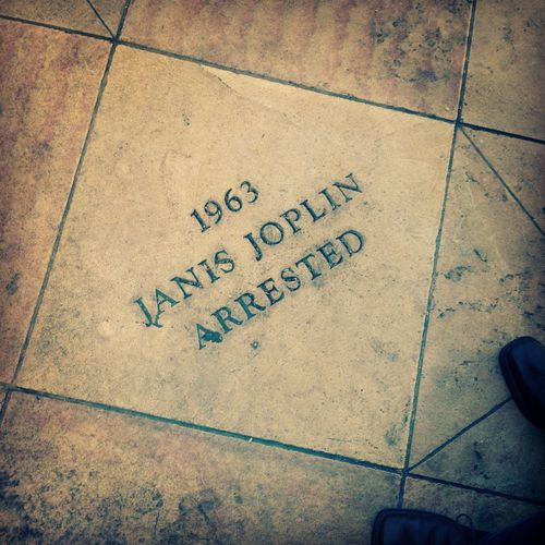 Janis Joplin Close-up Communication Day High Angle View No People Outdoors Sidewalk Text Tile Tiled Floor