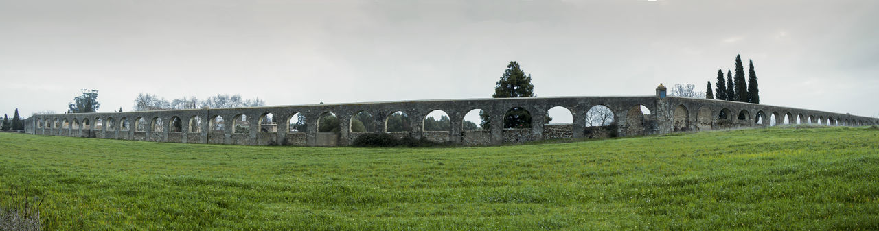 Silver Water Aqueduct Antiques Aqueduct Green Medieval Monuments Nature Roman Sunrise