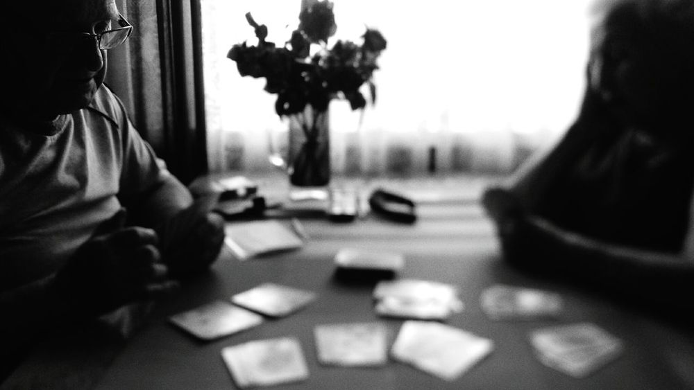 My grandfather playing rummy with me and my grandmother in Zielonka, Poland. Cards Playing Cards Grandma Grandpa Grandmother Grandfather Grandparents Rummy People Photography Peoplephotography People Black And White Blackandwhite B&w B&w Photography Black And White Photography Blackandwhite Photography Blackandwhitephotography Blac&white  Light And Shadow Shadows Samsungphotography Samsung Galaxy S4