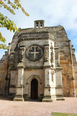 Architecture Building Exterior Clock Clock Tower Day Edinburgh No People Outdoors Place Of Worship Religion Rosslyn Chapel Scotland Travel Destinations