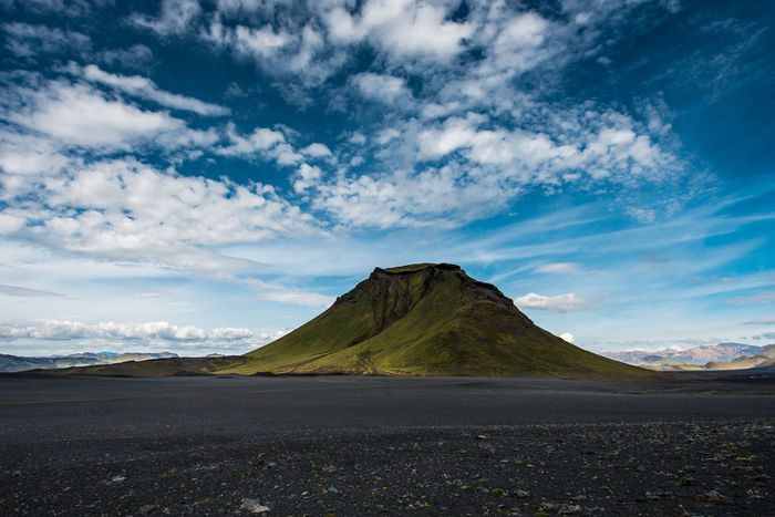 Beauty In Nature Cloud - Sky Day Geology Iceland Landscape Laugavegur Mountain Natural Phenomenon Nature No People Outdoors Scenics Sky Volcanic Landscape Volcano