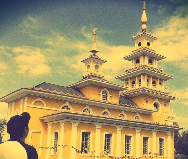 Hosheutovsky Khurul Architecture Sky Gold Colored Religion Beautiful Day Building Exterior Place Of Worship Sunset First Eyeem Photo