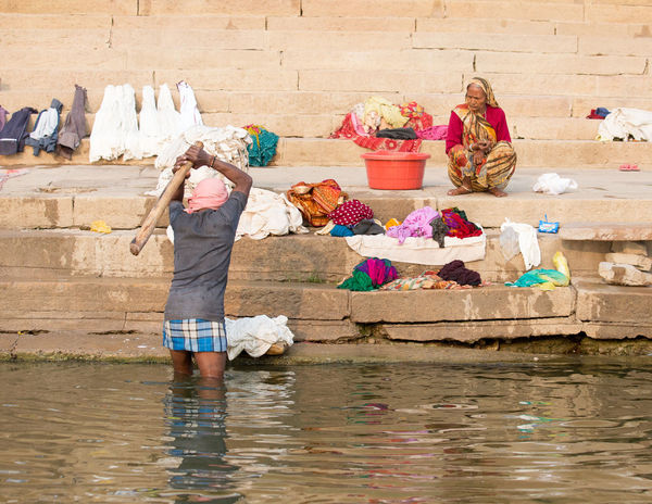 Freshness Ganges River India Indian Indian Culture  Poor  Traditional Clothing Washing Clothes Cleaning Cloth Cremation Cremation Ceremony Hitting Clothes Pool Primitive Selling Sleeping Varanasi Varanasi India
