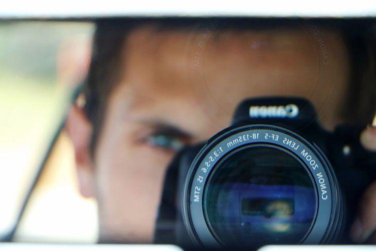 Close-up of digital camera