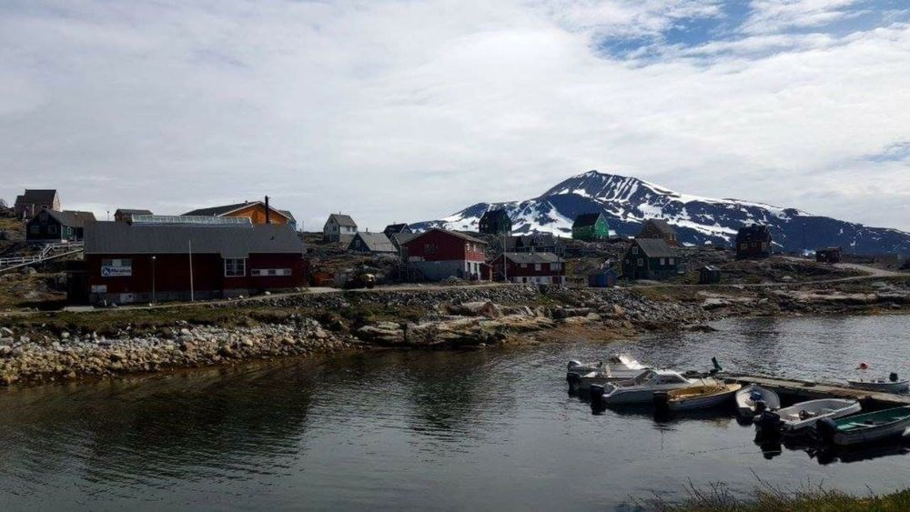 Village Greenland No People Mountain I Love You !