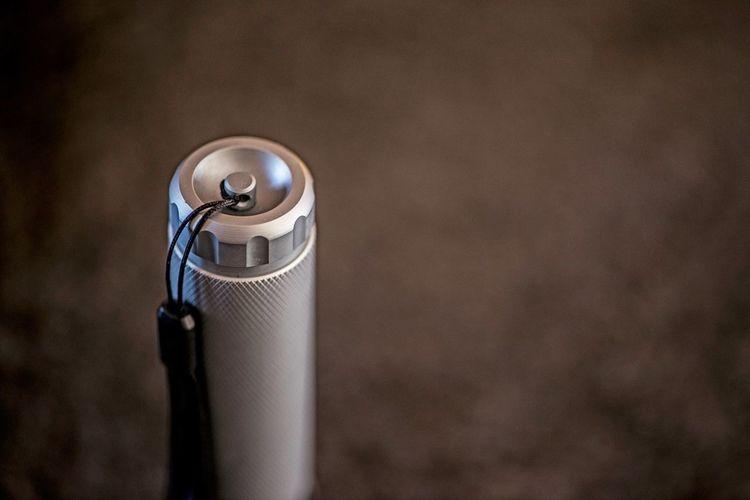 Close-up of flashlight