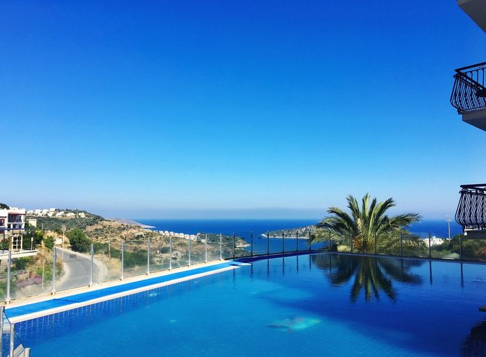 Bodrum Travel Travel Destinations View Blue Holiday Sea Water Blue Plant Tree Nature Swimming Pool No People