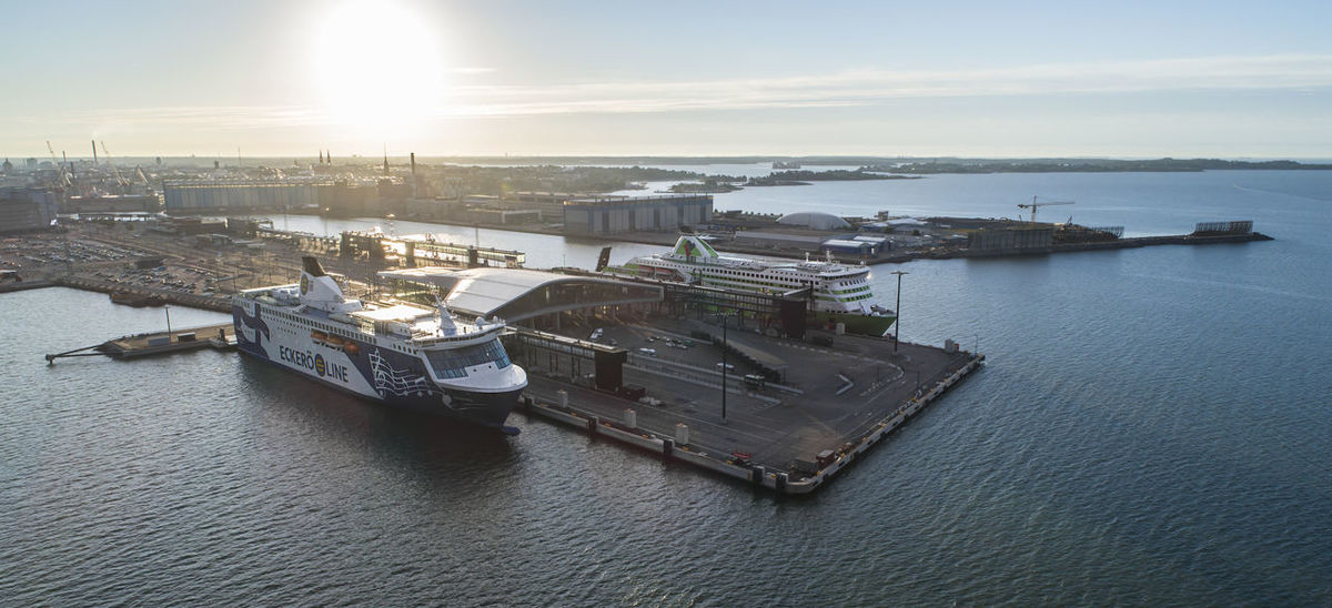 Drone  Finland Harbor Harbour Helsinki Aerial Aerial View Aero Architecture Day Landscape Nautical Vessel No People Outdoors Sea Ship Ships Summer Sunrise Sunset Terminal Transportation Vessels Vessels In Port Water