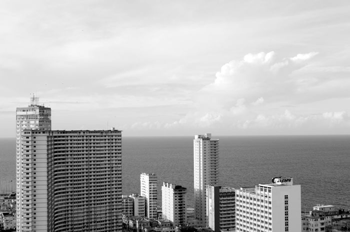 Architecture Black And White Building Exterior Built Structure Capital Cities  City City Life Cityscape Crowded Development Focsa Havana Havanna Modern No People Office Building Outdoors Residential District Sky Skyscraper Tall Tower Urban Urban Sea Side
