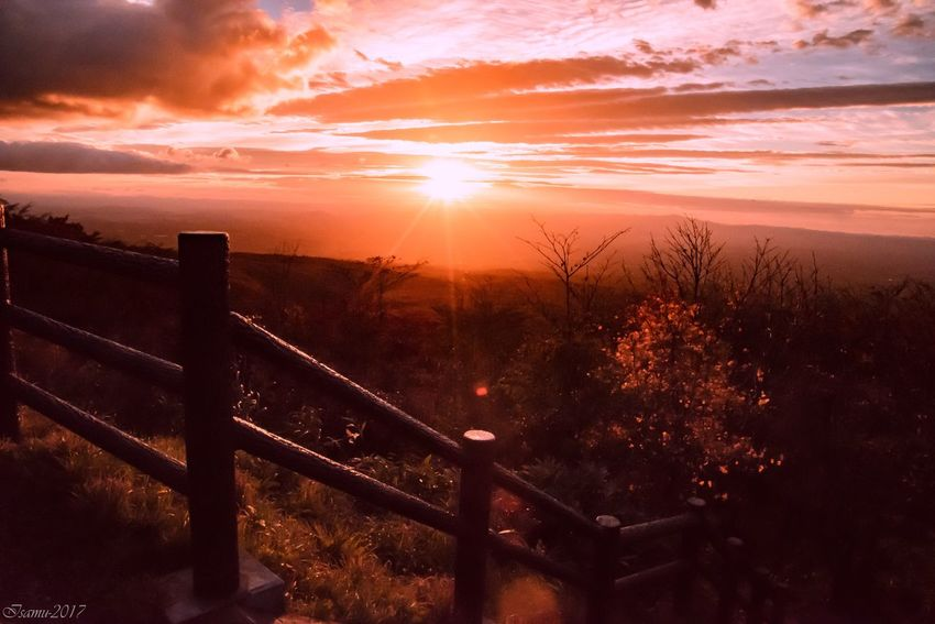 Sunset Railing Sun Sky Scenics Nature Beauty In Nature No People Tranquil Scene Landscape Outdoors Tranquility Cloud - Sky Bridge - Man Made Structure Tree Mountain Day Shades Of Winter
