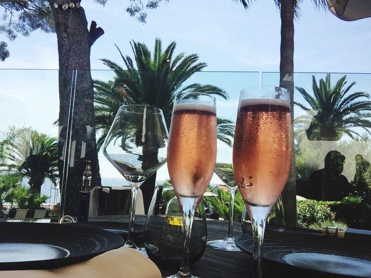 Champagne Flute Champagne Sun Plage Restaurant Sud Saint Raphael