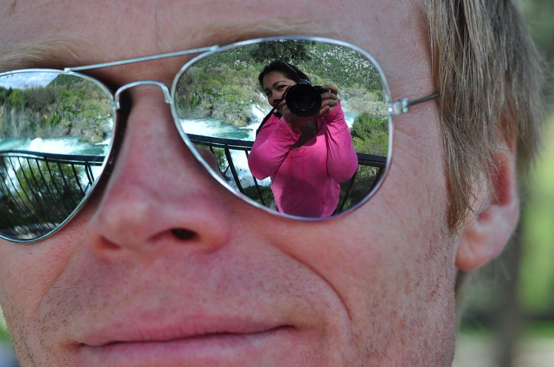 Camera Reflection Close-up Eyeglasses  Glass Reflection Glass Reflections Headshot Portrait Reflections Uniqueness Fine Art Photography Fine Art Waterfront Sun Glasses Mirror Miles Away Shades Of Pink